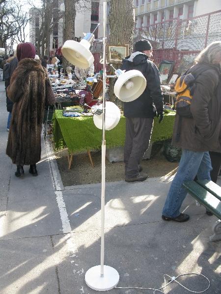 Marché Puces Vanves Paris Antiques Flea Market - Lampe