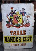 Puces de Vanves Paris Flea Market Plaque émaillée Tabak 4