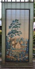 Puces de Vanves Paris Flea Market Panneau soie peint 31