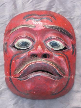 Marché Puces Porte Vanves paris Antiques Flea Market - Masque de danse Indonésie