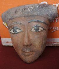 Marché Puces Porte Vanves Paris Antiques Flea Market - Masque funéraire bois, Egypte