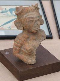 Marché Puces Porte Vanves Paris Antiques Flea Market - Sculpture terre-cuite Maya, Méxique