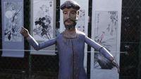 Marché Puces Porte Vanves Paris Antiques Flea Market - Statue de saint articulée, bois