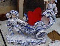 Marché Puces Porte Vanves Paris Antiques Flea Market - Salière en céramique