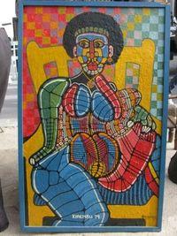 Marché Puces Porte Vanves Paris Antiques Flea Market - Kirembu, Portrait-anatomie de femme au fauteuil, 1979