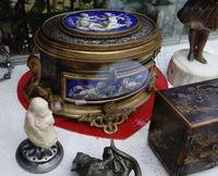 Marché Puces Porte Vanves Paris Antiques Flea Market - Coffret Napoléon III