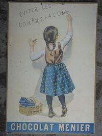 Marché Puces Porte Vanves Paris Antiques Flea Market - Chocolat Menier contre les contrefaçons